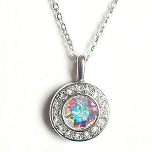 18K♠️+ Swarovski® Aurora Borealis HALO Necklace
